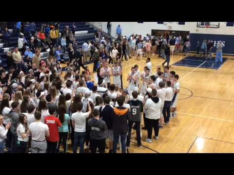 John Glenn players join fans in song after district thriller