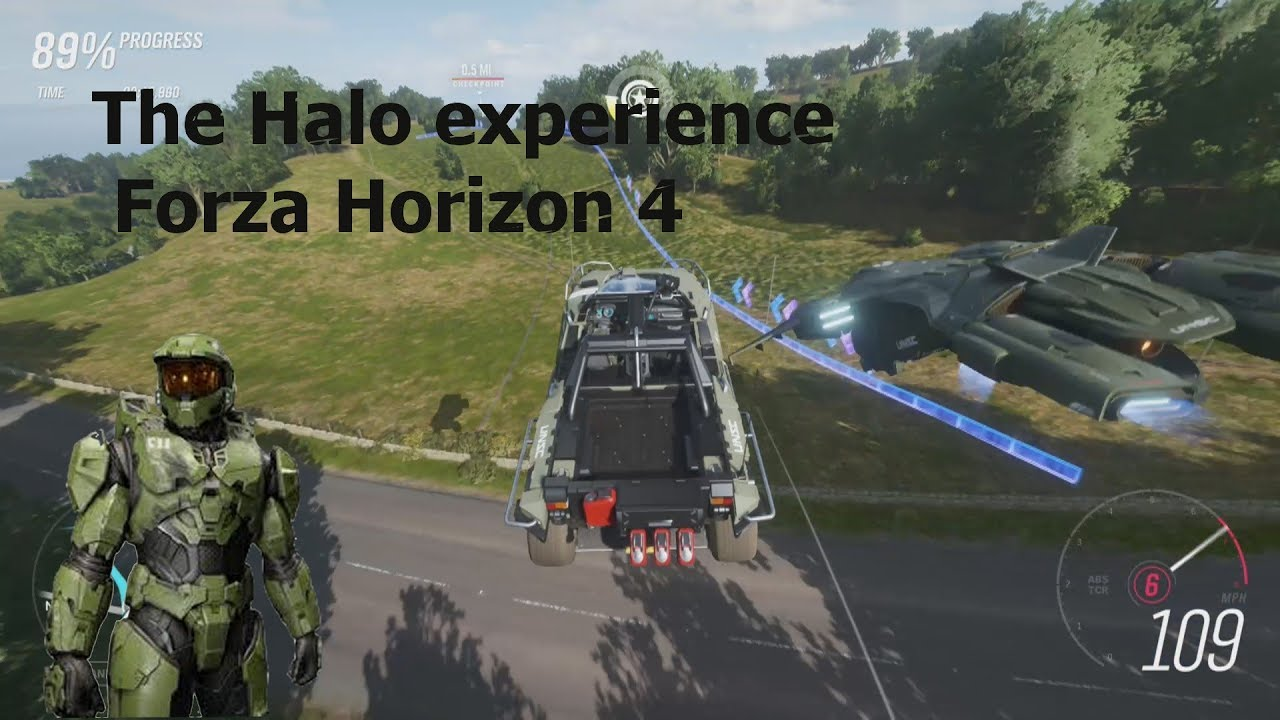 The Halo Experience Forza Horizon 4 run