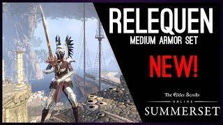 Arms of Relequen Medium Armor Set - PTS Summerset Chapter, Elder Scrolls Online ESO