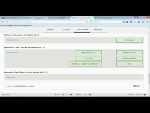 Installing & configuring Hortonworks Hive ODBC driver - YouTube