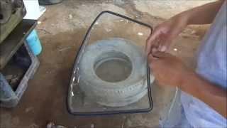 Funilaria como colocar o para-brisa ou vidros laterais e trazeiro