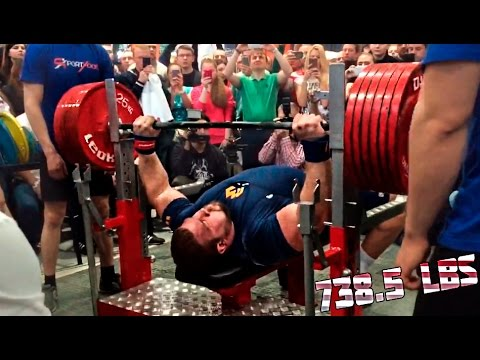 Kirill Sarychev 335 kg(738) RAW Bench Press World Record 2015