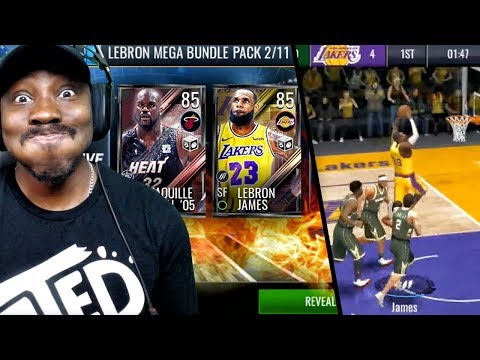 85 OVR LEBRON JAMES & SHAQ IN MOVERS PACK OPENING! NBA Live Mobile 19 Season 3 Gameplay Ep. 7