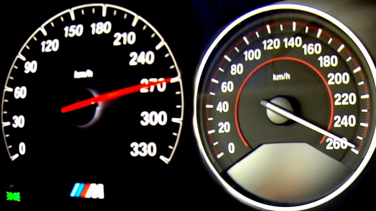 BMW M4 vs 435i Acceleration + Sound Onboard Autobahn F82 ...