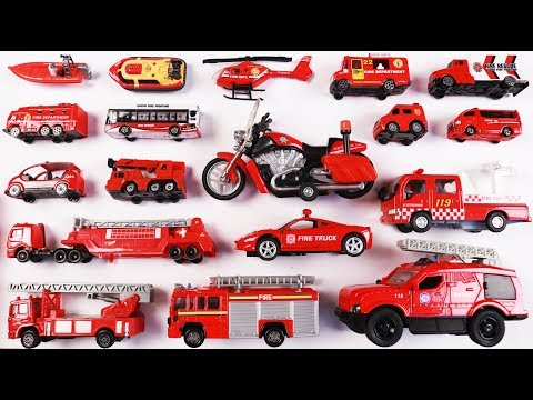Fire Rescue Vehicles for Kids Children Toddlers Babies   Vehicles for kids   Educational video kids