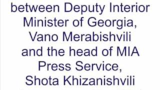 Phone Conversation between Vano Merabishvili and Shota Khizanishvili