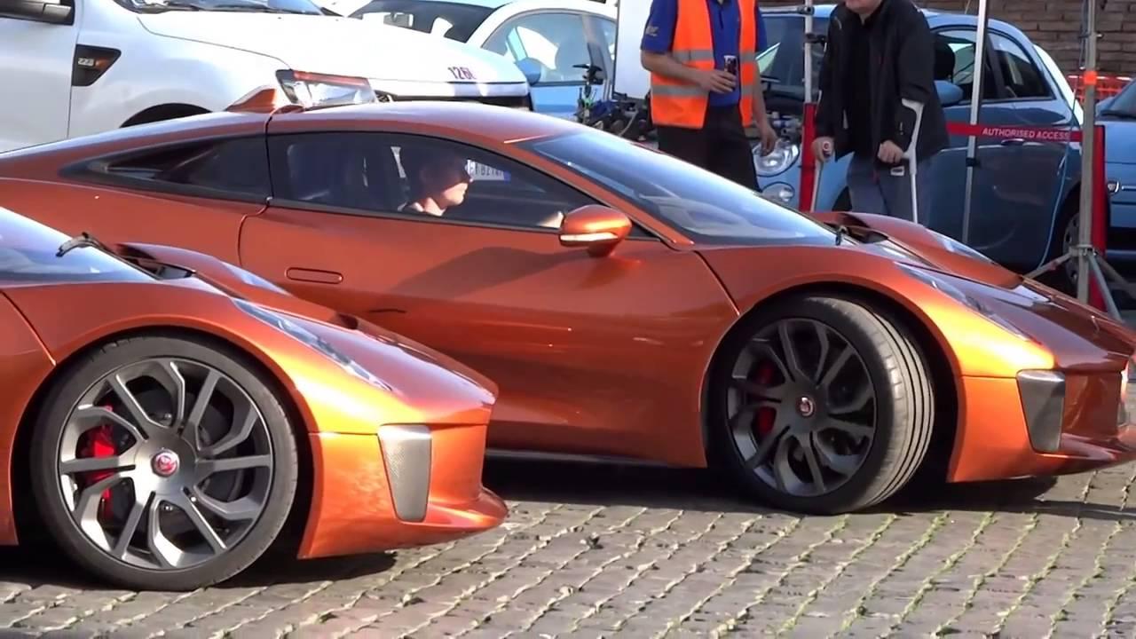 James Bond Aston Martin Db10 Vs Jaguar C X75 Youtube