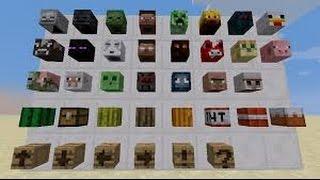 Minecraft Modsuz İtem ve Mob Kafası Alma