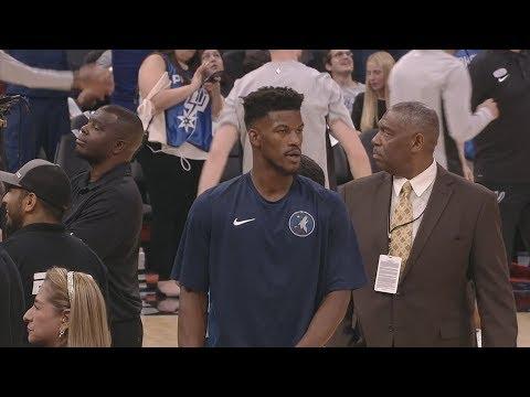 Jimmy Butler Timberwolves Debut! Timberwolves vs Spurs 2017-18 Season