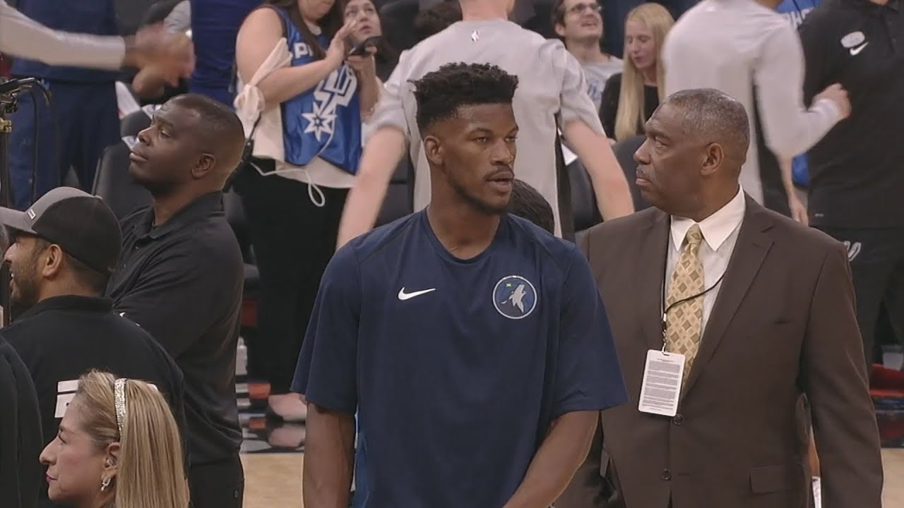 jimmy-butler-timberwolves-debut-timberwolves-vs-spurs-2017-18-season