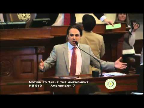 Texas House Bill HB 910 Second Reading