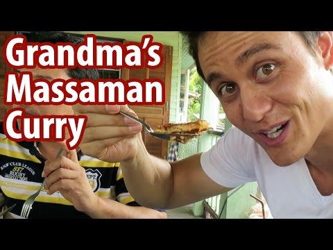 Grandma's Massaman Curry in Ayutthaya | Food Travel Vlog 4