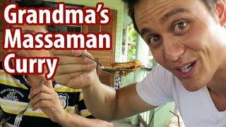 Grandmas Massaman Curry in Ayutthaya  Food Travel Vlog 4