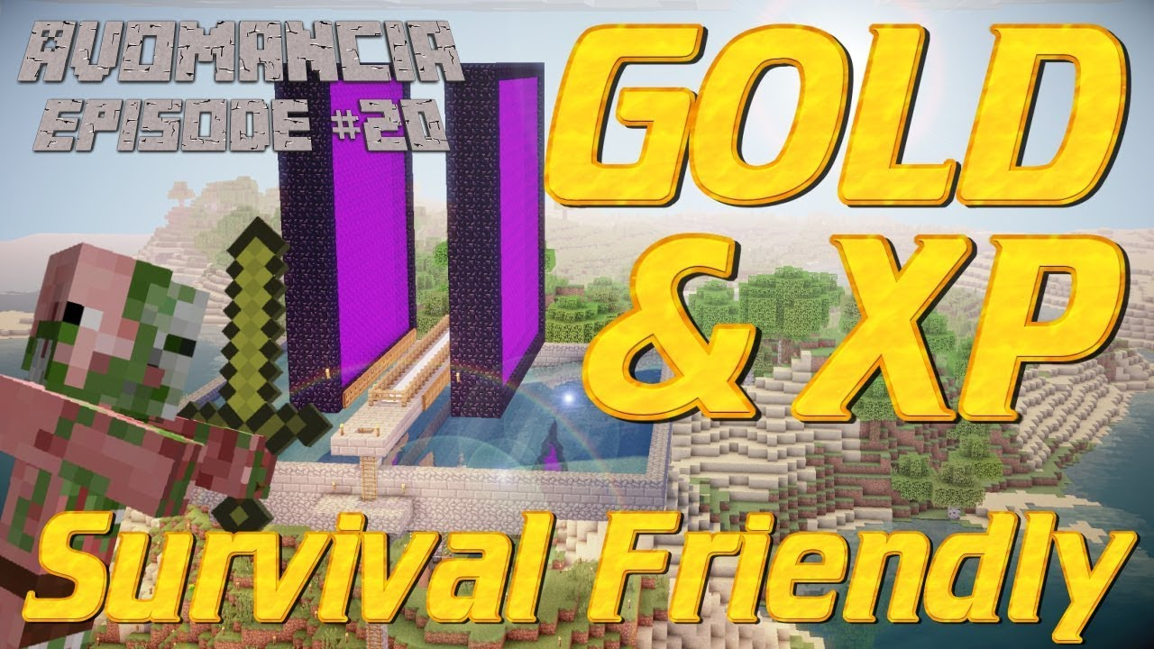 Minecraft How To Make A Gold Farm In Survival Mode Gold Farm Tutorial Avomancia Lets Play Ep20 Youtube