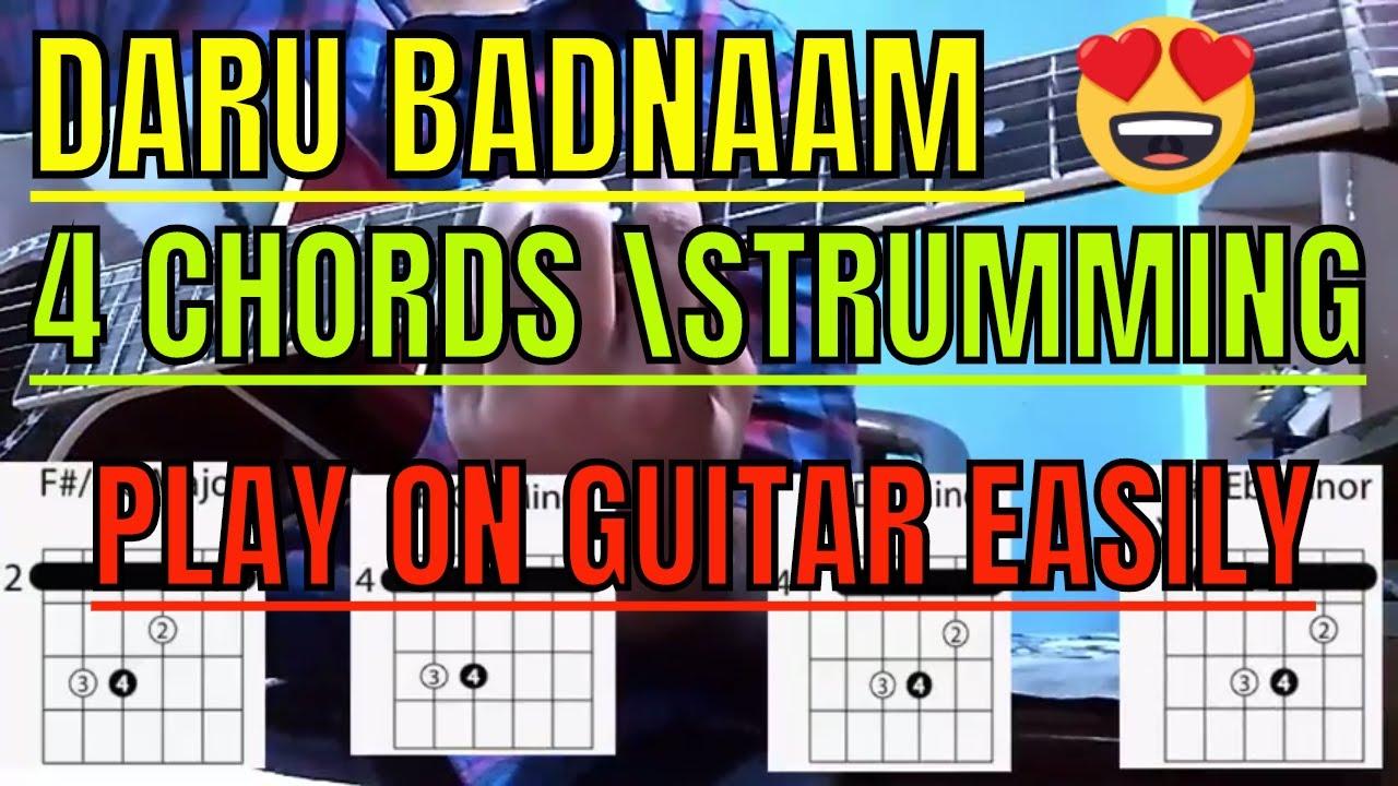 Daru Badnam Guitar Full Tutorial Daru Badnaam Kamal Kahlon