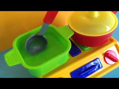 Trò chơi cho bé tập nấu ăn   Đồ chơi nấu ăn cho bé gái   Nấu bếp bằng đồ chơi