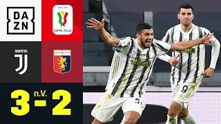 Juve-Jugend-Joker Rafia entscheidet Partie: Juventus - CFC Genua 3:2 n.V. | Coppa Italia | DAZN