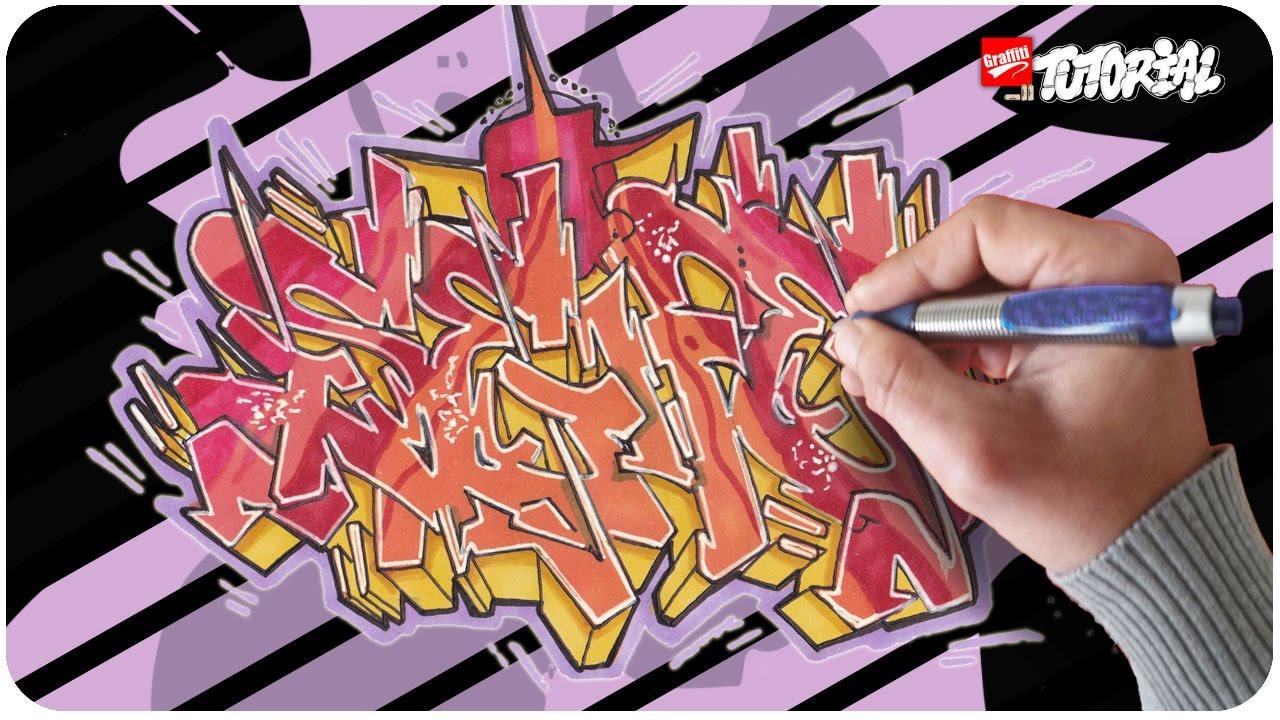 graffiti tutorial  schritt für schritt seife funky style