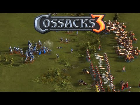 Cossacks 3 Gameplay - Prussia Gameplay Four Player Free For All
