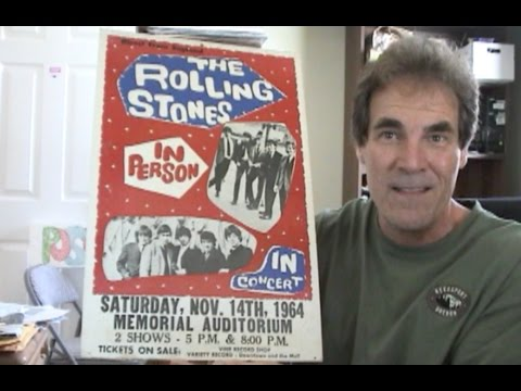 Rolling Stones 1964 Window Card – Second American Tour – Louisville, KY