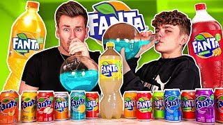 BROTHERS TRY EVERY FLAVOUR OF FANTA AND MIX THEM