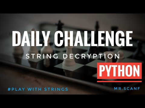 Python Tutorial for Beginners : Strings - Working | Daily challenge #strings #encryption #python thumbnail