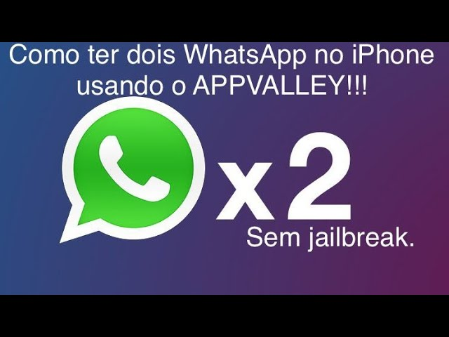 ??????Como ter dois WhatsApp no iPhone usando o APPVALLEY!