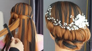 Bridal Bun Hairstyles Step By Step Simple Hairstyle For Wedding Bride Easy Hairstyle