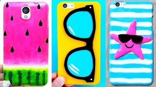 10 DIY Phone Cases (Summer-inspired) | Easy & Cute Phone Projects