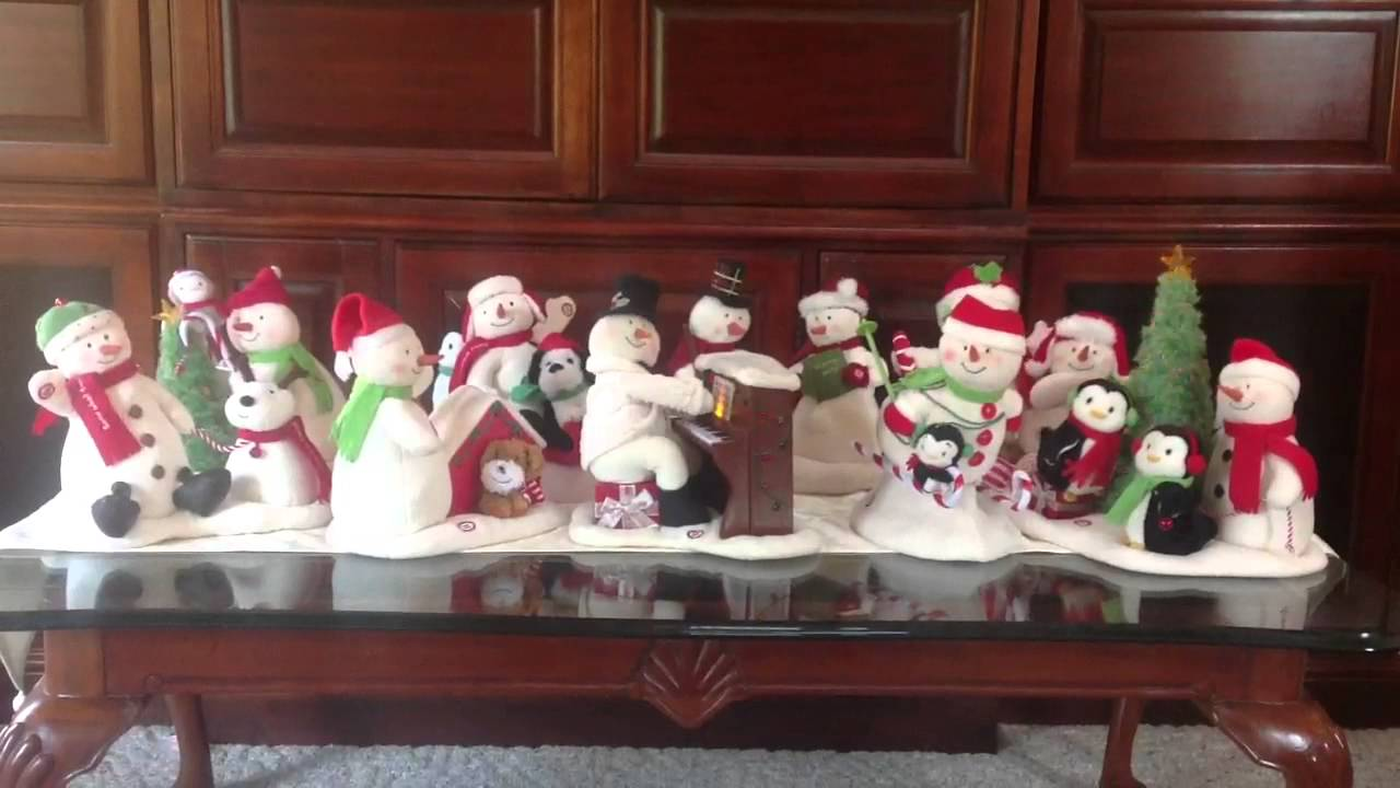 Snowmen Of Hallmark Sing Together Youtube