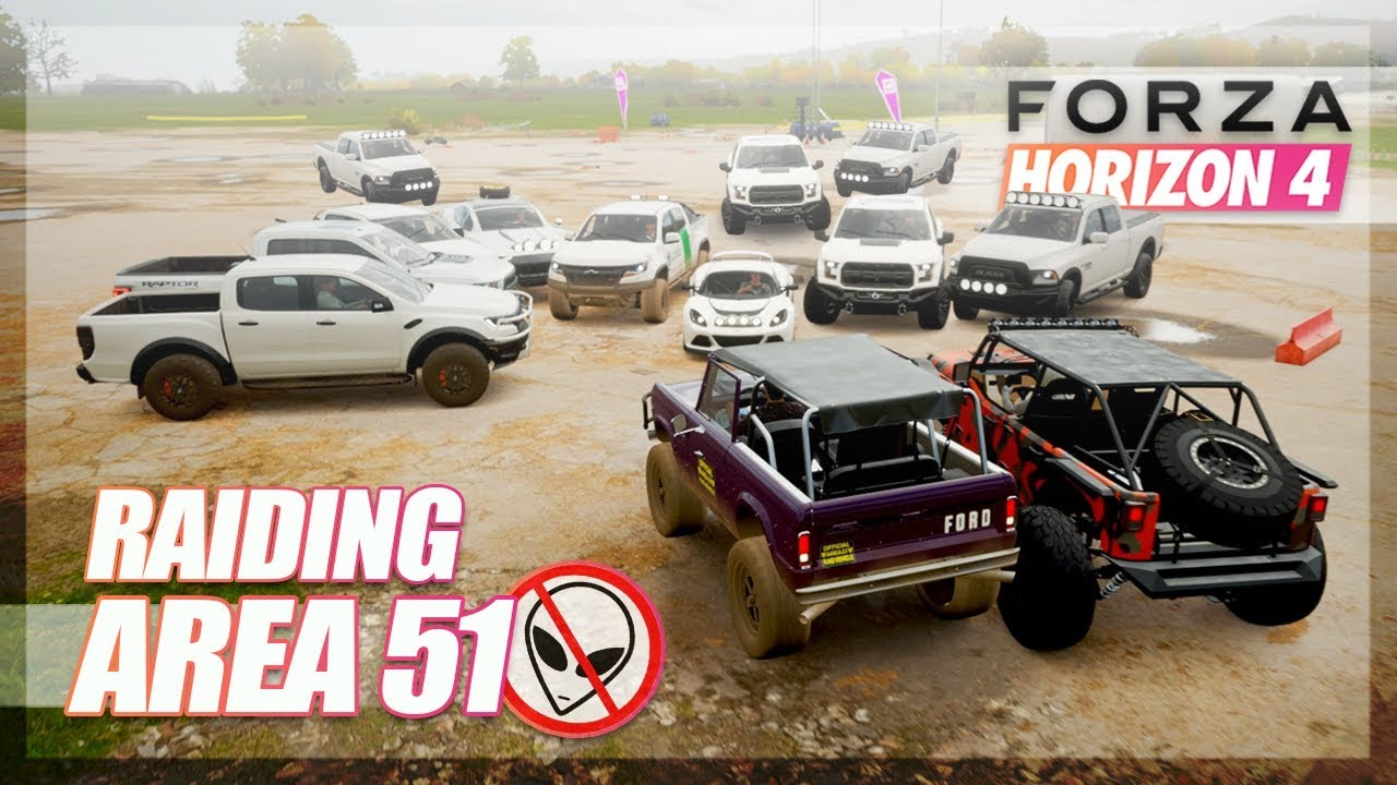 Forza Horizon 4 - Area 51 Raid Challenge! thumbnail