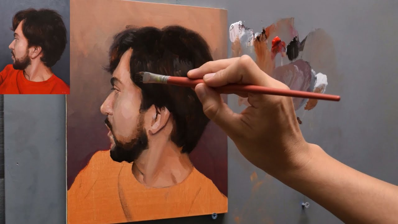 Painting a portrait with a limited palette