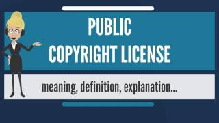 What is PUBLIC COPYRIGHT LICENSE? What does PUBLIC COPYRIGHT LICENSE mean?