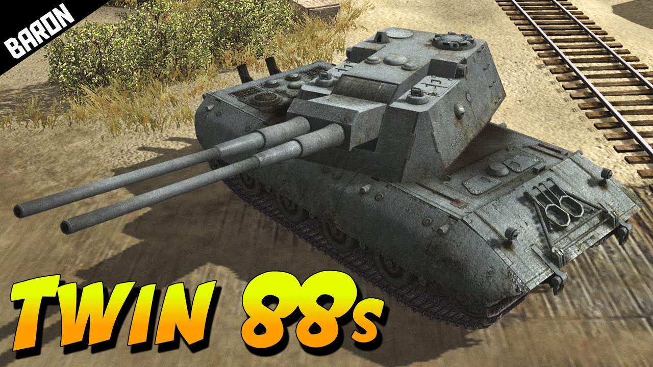 TWIN 88mm BEAST, E-100 Alligator (Men of War Mondays w ...