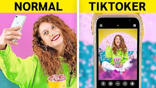 NORMAL vs TIKTOKER || Backstages of Trends, Viral Photos and Videos