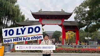 10 lí do bạn nên lựa chọn trường ĐH Tứ Xuyên | Du học Trung Quốc | Mặt hoạt hình