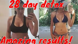 Amazing weight loss detox cleansing program, incredible results!! How much weight did she lose?