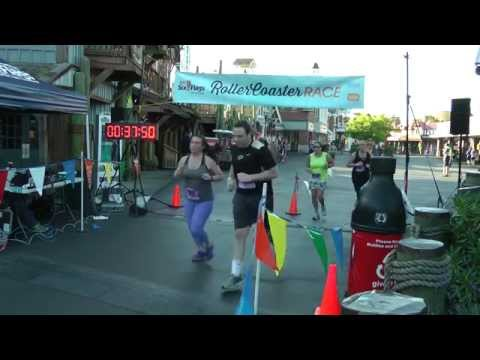 2015 Rollercoaster Race - Six Flags New England - Finish Line Video