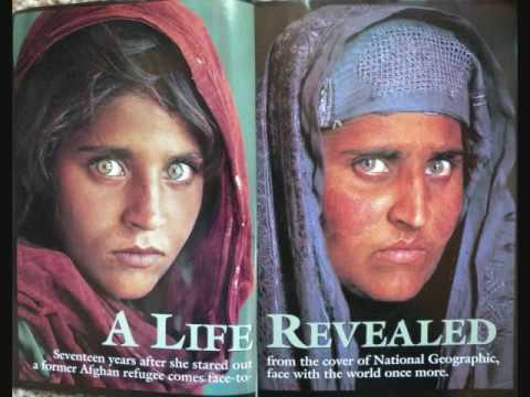 Woman blue eyes National with geographic
