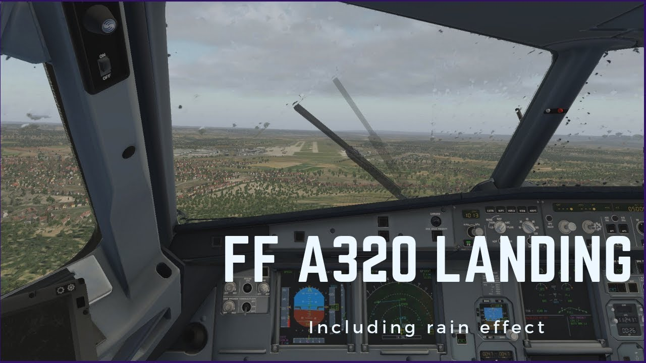 Flightfactor A320 Rainy Landing in Stuttgart | XP11 - Laxter