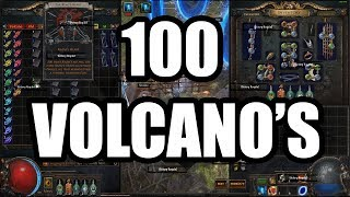 Loot from 100 Volcano Maps