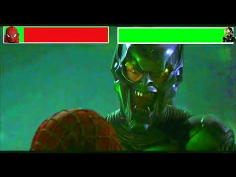 Spiderman vs. Green Goblin (Final Battle) with healthbars