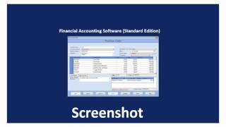 Software purchase order accounting ...