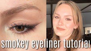 BROWN SMOKEY LINER TUTΟRIAL FOR BEGINNERS   smokey eyeliner tutorial for hooded eyes