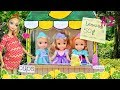 Anna and Elsa Toddlers Lemonade Stand #2 - Annya and Elsya Toys & Dolls Story Barbie