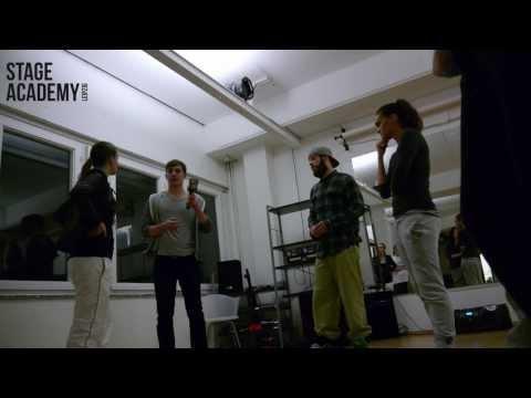 Energy sachsen beim schwitzen in der Stageacademy Leipzig