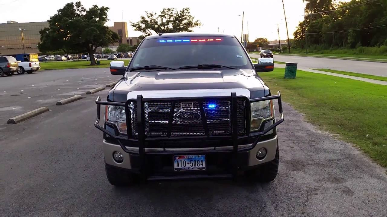 2016 Ford F 150 King Ranch >> Ford F150 Truck Police Lights (POV) - YouTube