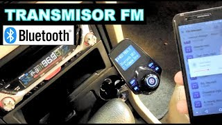Bluetooth y Transmisor FM para Coche y Telefono (prueba de funcionamiento)