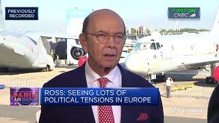 Trump 'perfectly happy' hitting China with more tariffs: Wilbur Ross   Paris Airshow 2019