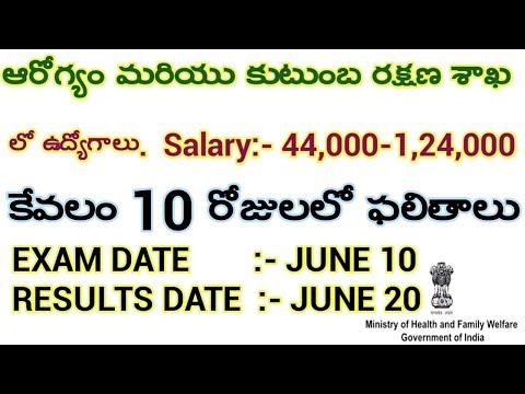 JOBS IN MINISTRY OF HEALTH & FAMILY WELFARE. APPLY NOW